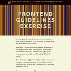 Frontend Guidelines Exercise