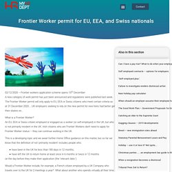 Frontier Worker permit for EU, EEA, and Swiss nationals