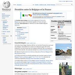 Frontière entre la Belgique et la France