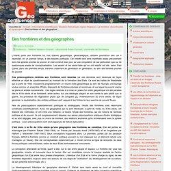 Geoconfluences La frontière, discontinuités et dynamiques