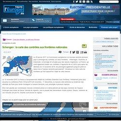 Schengen : la carte des contrôles aux frontières nationales