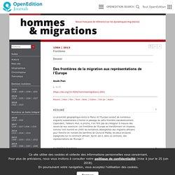 Des frontières de la migration aux représentations de l'Europe