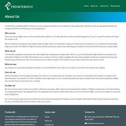 FrontierOFly booking details & Deals