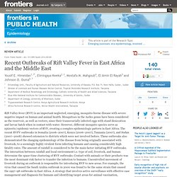 FRONTIERS IN PUBLIC HEALTH - 2014 - Recent Outbreaks of Rift Valley Fever in East Africa and the Middle East