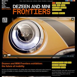 and MINI Frontiers exhibition: the future of mobility