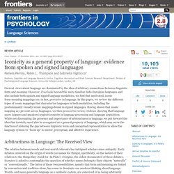 Iconicity as a General Property of Language: Evidence from Spoken and Signed Languages