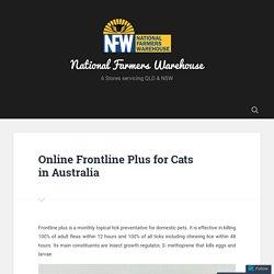 Online Frontline Plus for Cats in Australia