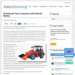 Frontload Your Lessons with Social Media