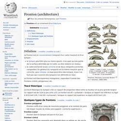 Fronton (architecture)