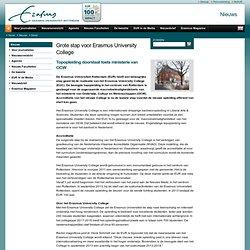 Grote stap voor Erasmus University CollegeTopopleiding doorstaat toets ministerie van OCW