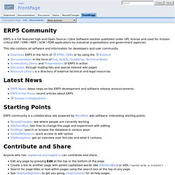 ERP5 Community - Industrial Grade Open Source / Libre Software E