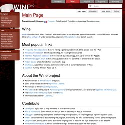 FrontPage - The Official Wine Wiki