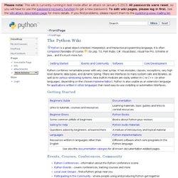 Python Wiki