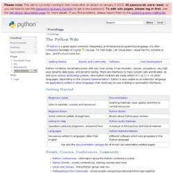 The Python Wiki