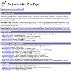 FrontPage - Subjunctive KoL
