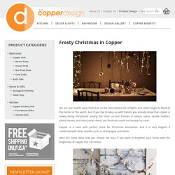 Frosty Christmas in Copper - The Copper Design