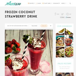 Frozen Coconut Strawberry Drink