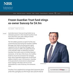 Frozen Guardian Trust fund stings ex-owner Suncorp for $4.9m