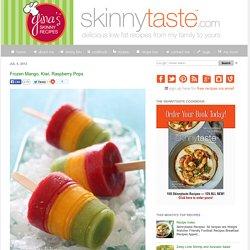 In a popsicle? Oh yeah baby!Frozen Mango, Kiwi, Raspberry Pops. Cool ...