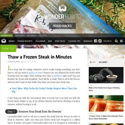 How to Thaw a Frozen Steak in Minutes « Food Hacks