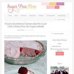 Frozen Strawberry Cheesecake Pie { Low Carb, Gluten Free, No Sugar Added}