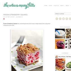 Frozen Strawberry Squares Recipe