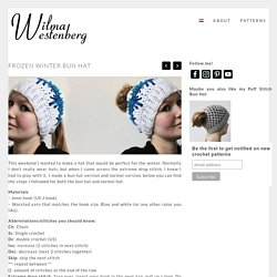 Frozen winter bun hat - free crochet pattern Made by Wilma