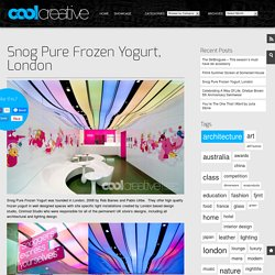Snog Pure Frozen Yogurt, London