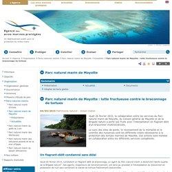 Parc naturel marin de Mayotte : lutte fructueuse contre le braconnage de tortues - Actualités - Parc naturel marin de Mayotte - Parcs naturels marins - Organisation - L'Agence