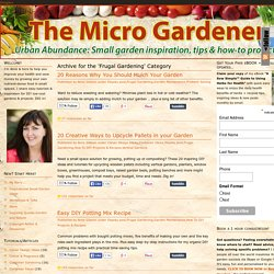 Frugal Gardening Archives -