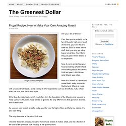 Frugal Recipe: How to Make Your Own Amazing Muesli