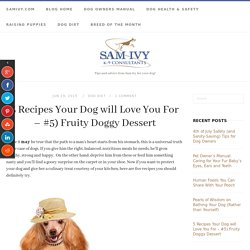 5 Recipes Your Dog will Love You For – #5) Fruity Doggy Dessert