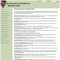 North American Fruit Explorers