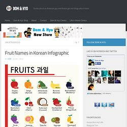 Fruit Names in Korean Infographic - Dom & Hyo