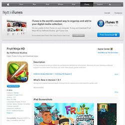 Fruit Ninja HD for iPad on the iTunes App Store