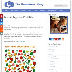Fruit and Vegetable I Spy Game