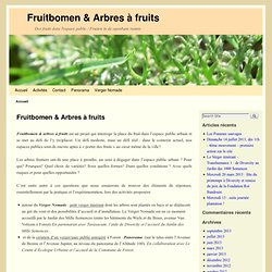 Des fruits dans l'espace public / Fruiten in de openbare ruimte
