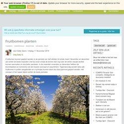 Fruitbomen planten