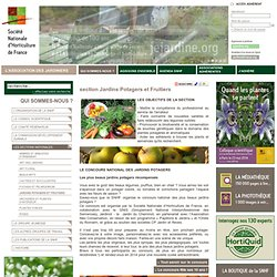 section Jardins Potagers et Fruitiers