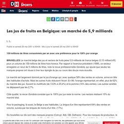 Les jus de fruits en Belgique: un marché de 5,9 milliards - DH Les Sports+