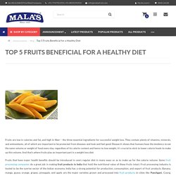 Top 5 Fruits Beneficial for a Healthy Diet
