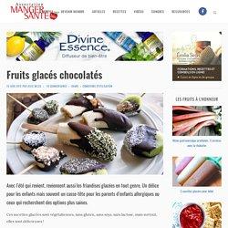 Fruits glacés chocolatés