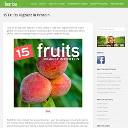 15 Fruits Highest in Protein