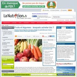 Fruits et légumes : lesquels acheter bio ?