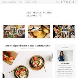Granola végane banane et coco + Aurore Market