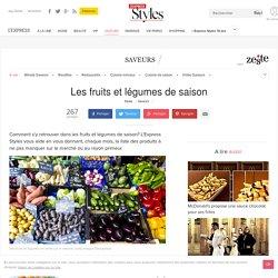 Les fruits et légumes de saison - L'Express Styles
