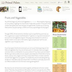 Fruits and Vegetables - The Food Lovers Kitchen