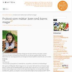 Frukost som mättar även små barns magar — Naturlig Mat i Skolan - Cecilia Blidö