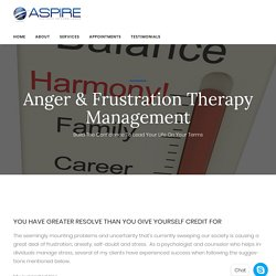 Anger & Frustation Therapy Management Therapist New Jersey & Near Me