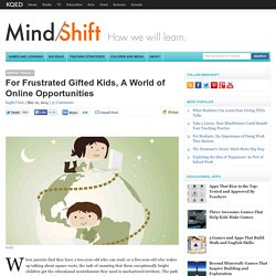 For Frustrated Gifted Kids, A World of Online Opportunities